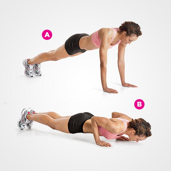Nhảy cao kết hợp chống đẩy diệt mỡ bụng